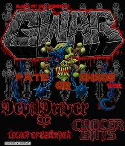 GWAR Fate Or Chaos 2012 Tour with DevilDriver, Cancer Bats