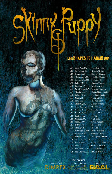 Skinny Puppy 2014 Tour