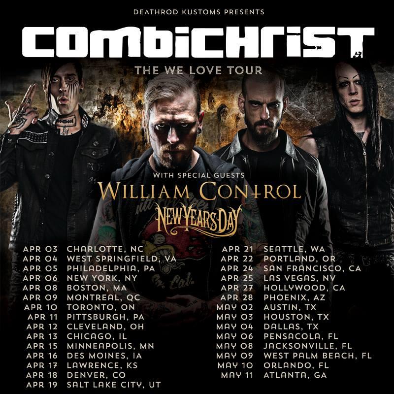 combichrist we love Tour
